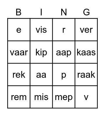 Kern 1 Bingo Card