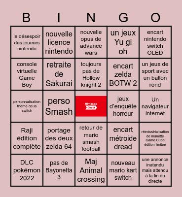 nintedo directe Bingo Card