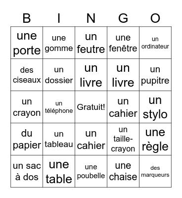 Les objets de la classe Bingo Card