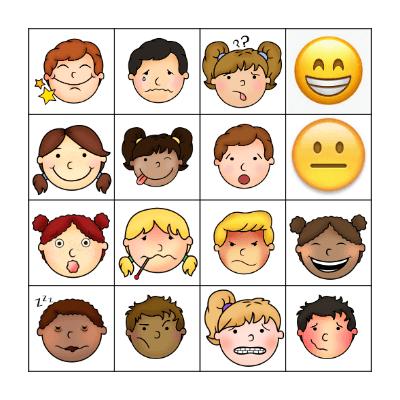 Les Émotions Bingo Card