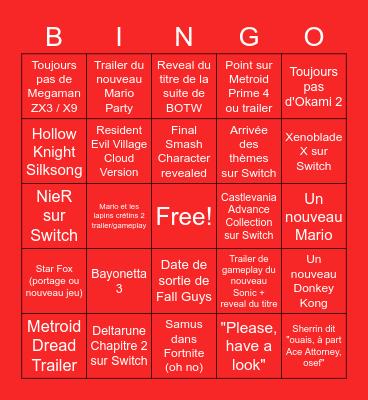 Bingtendo Bingo Card