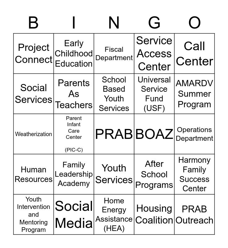 *****   P R A B  -  B I N G O   ***** Bingo Card