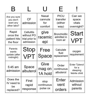 Blue Team Bingo Card