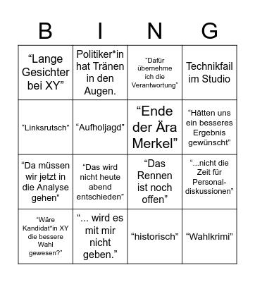 Wahlbingo 2021 Bingo Card