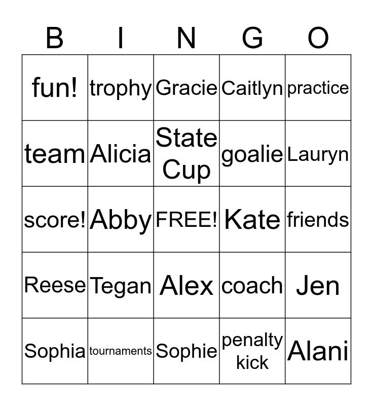 FUSION Bingo Card