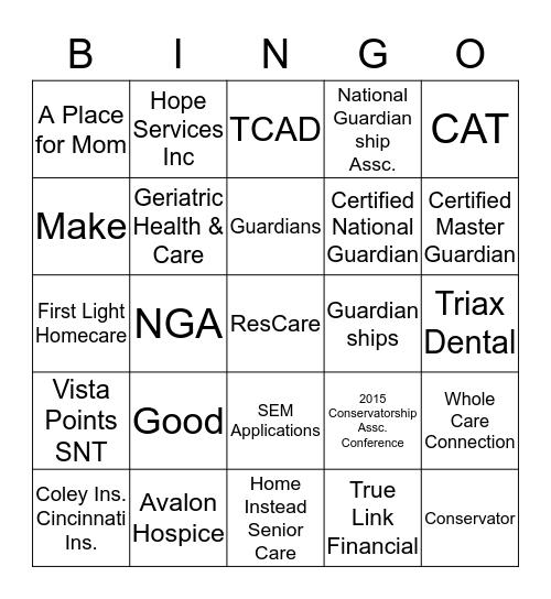 Name & cell: ________________ Bingo Card