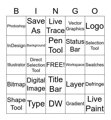 Computer Graphics  Bingo Card