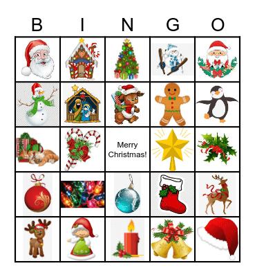 Christmas Time Bingo Card