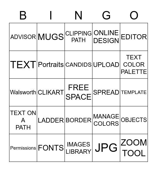 YEARBOOK TERMS Bingo Card