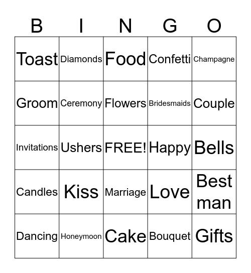 PATSKINS WEDDING Bingo Card