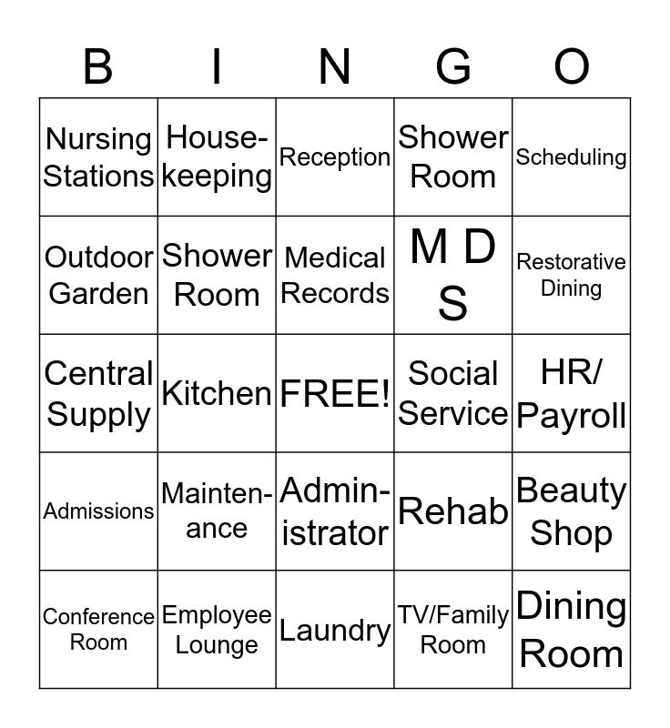 Facility  Bingo Card