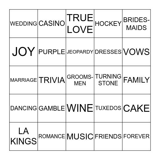 Marla & Brenden Bingo Card