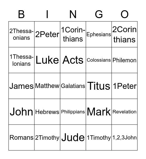 LEARN THE NEW TESTAMENT Bingo Card