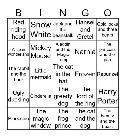 World of Stories  Bingo Card