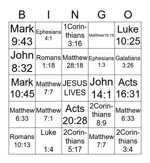 Faith & Fun Women's Group  Bingo Card