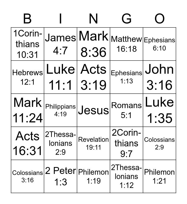 Faith & Fun Women's Group Bingo Card