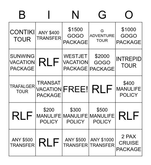 KINGSWAY BINGO CHALLANGE! Bingo Card