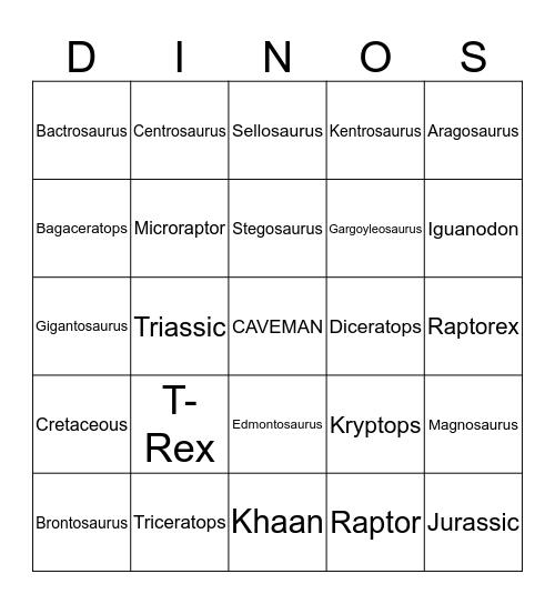 Stegoturtle Bingo Card