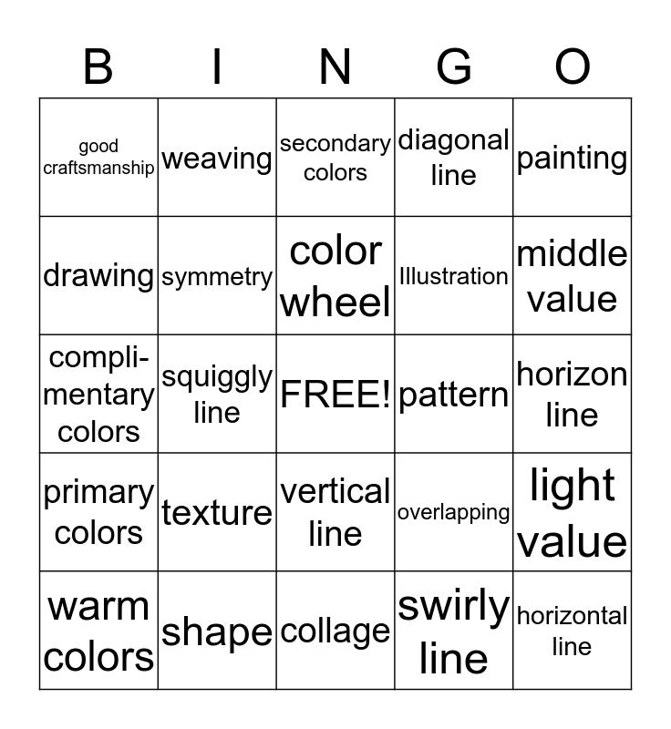 Art Bingo Card