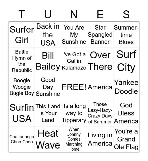 Let Summer Begin! Bingo Card