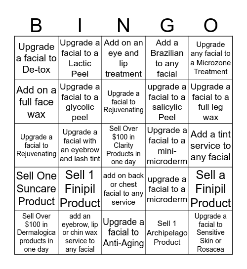 Hand and Stone Murfreesboro-LE Bingo Card
