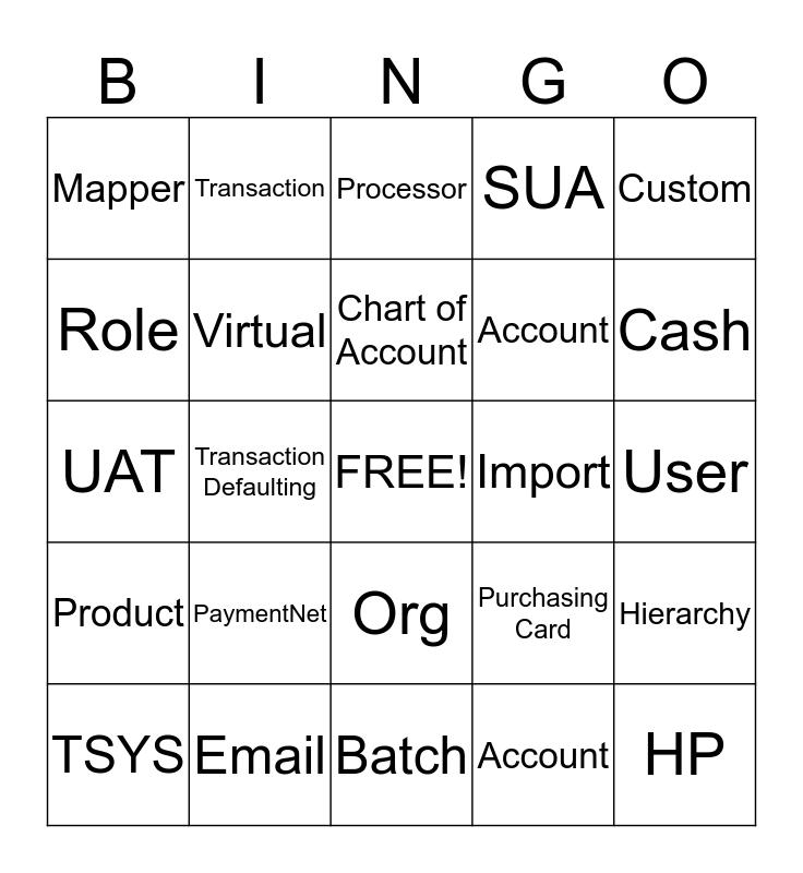 Knowledge Transfer Bingo Card