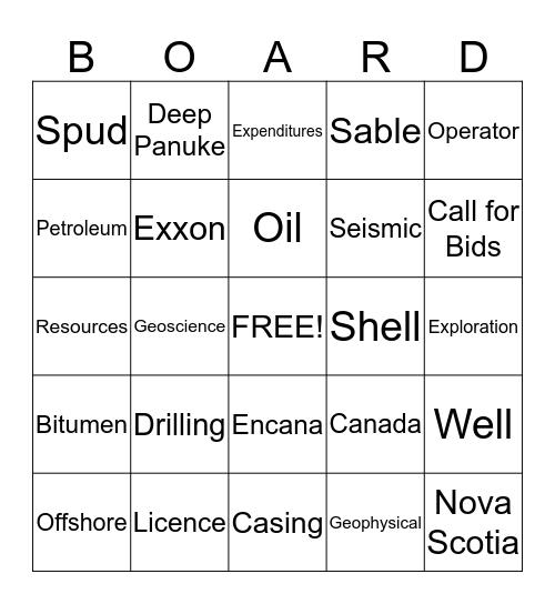 """""""BOARD"""" AT WORK Bingo Card"""