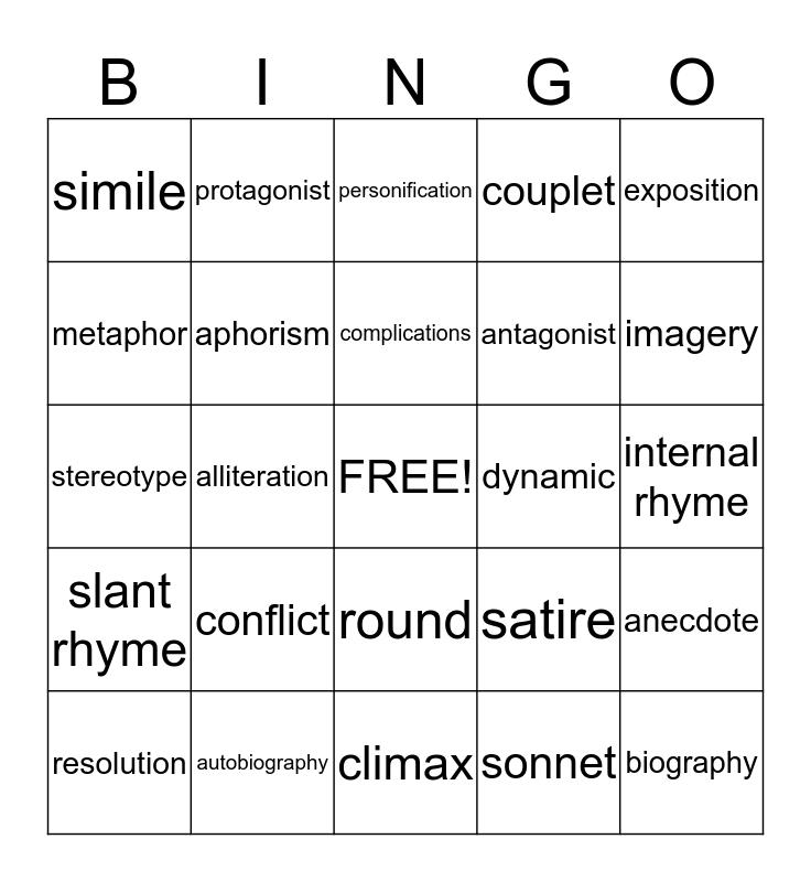 SOL Bingo Card