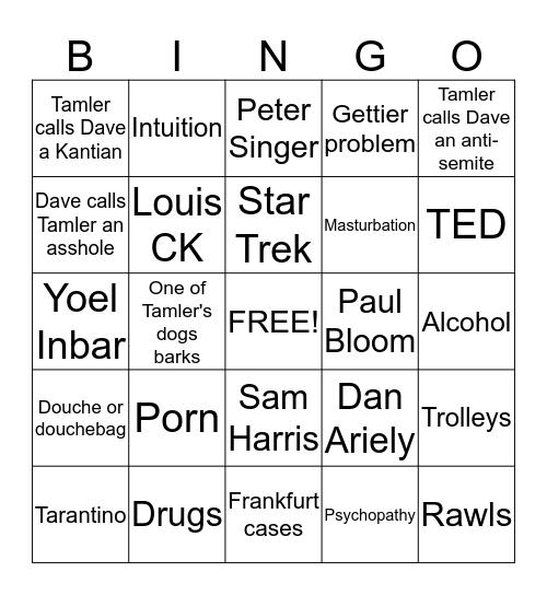 VBW Bingo Card
