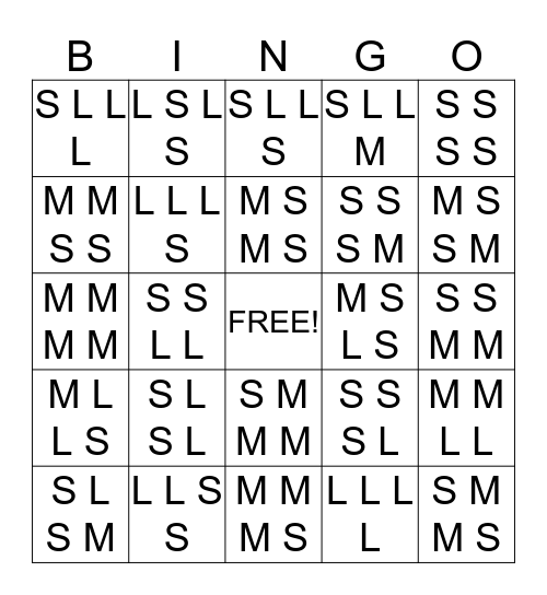 Sol La Mi Bingo Card