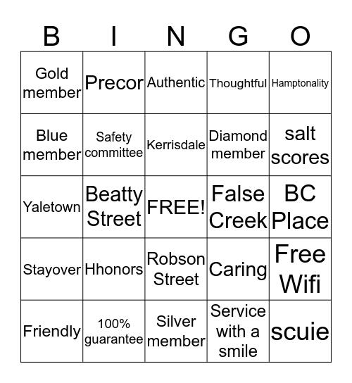 Hamptonality Starts with Me!! Bingo Card