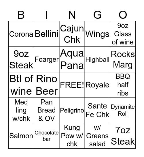 Server Bingo  Bingo Card
