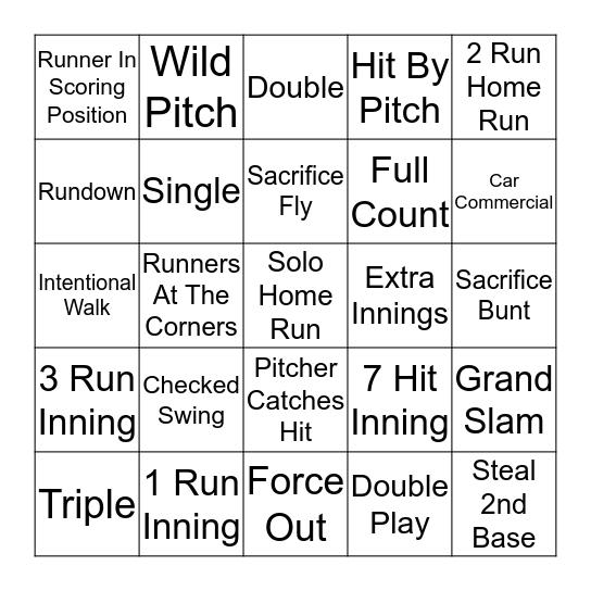 Baseball BINGO! Bingo Card