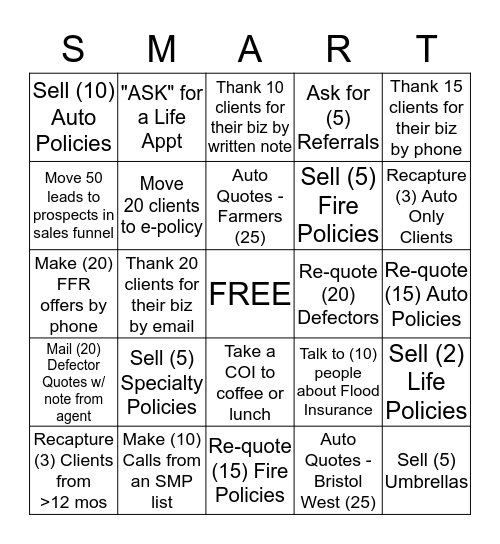 'SMART GROWTH' Promo! Bingo Card