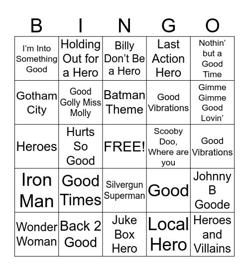 Game #1 Bingo Card