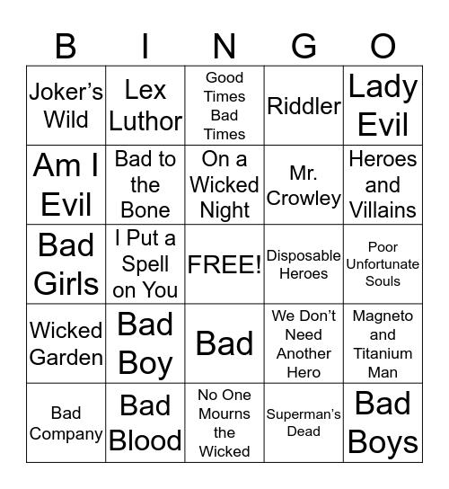 Game #2 Bingo Card