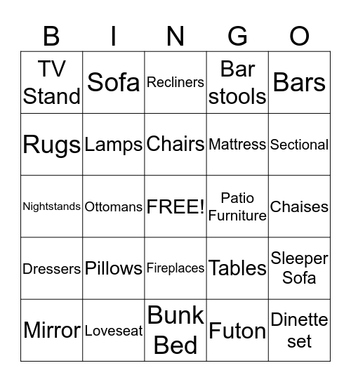 Customer Service Bingo! Bingo Card