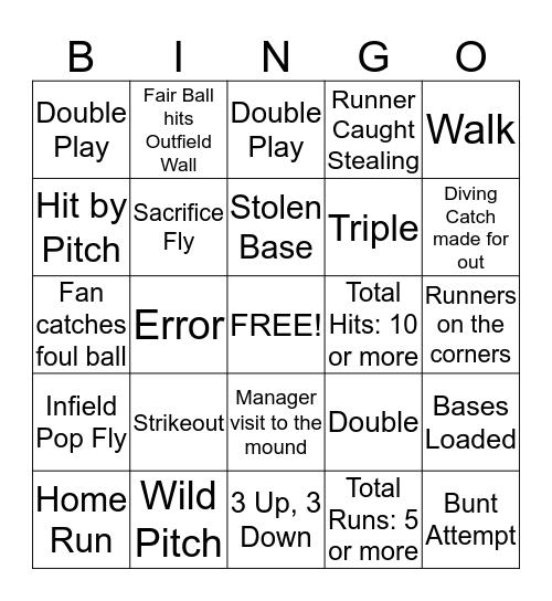 Graceball Bingo Card