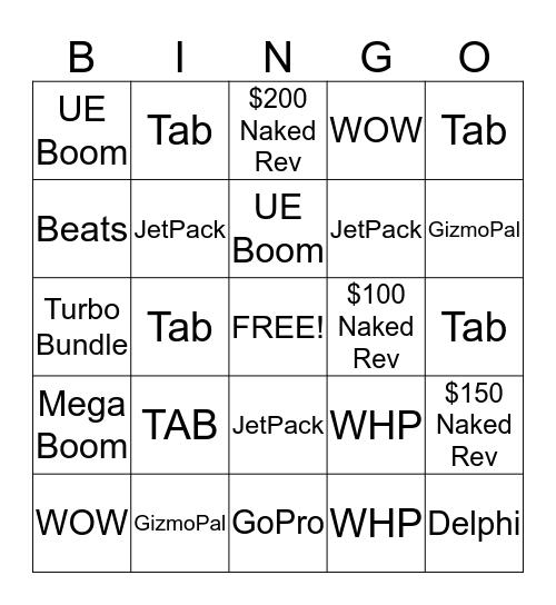 Redmond Domination Bingo Card