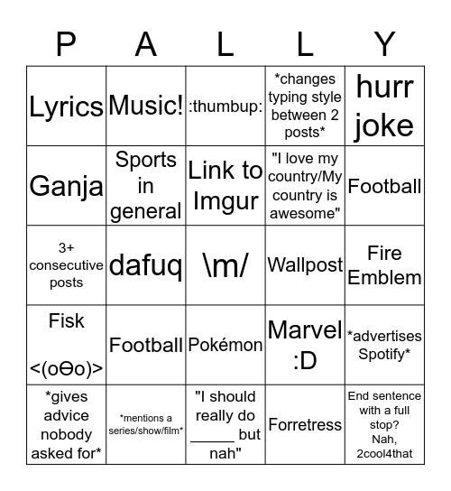 The Paleo Bingo Card
