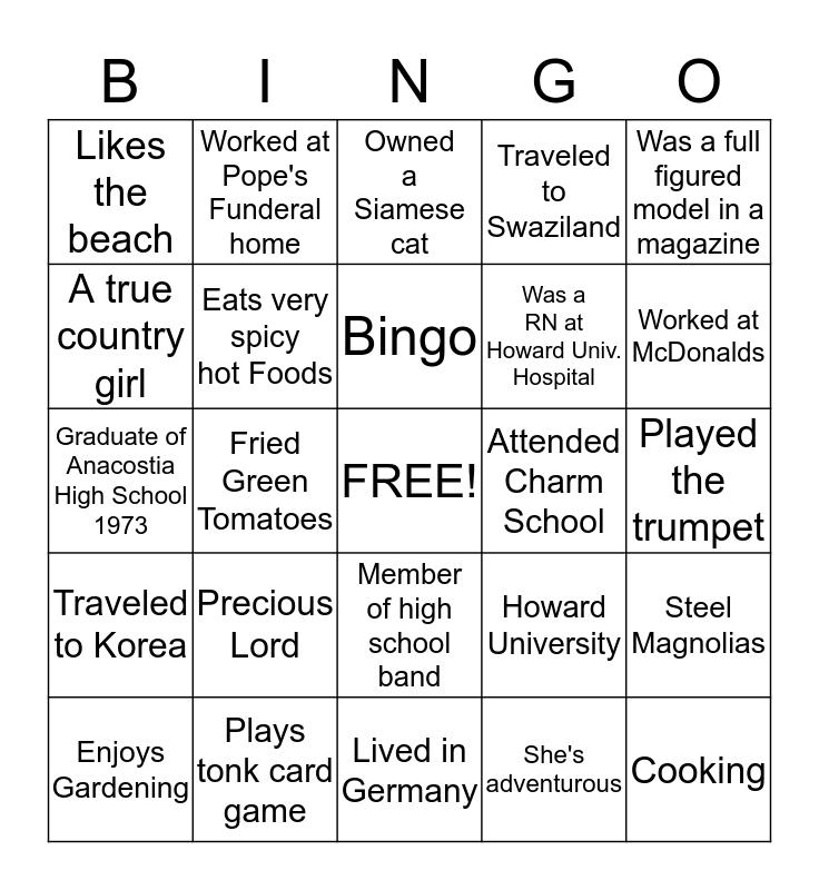 AUDREY Bingo Card