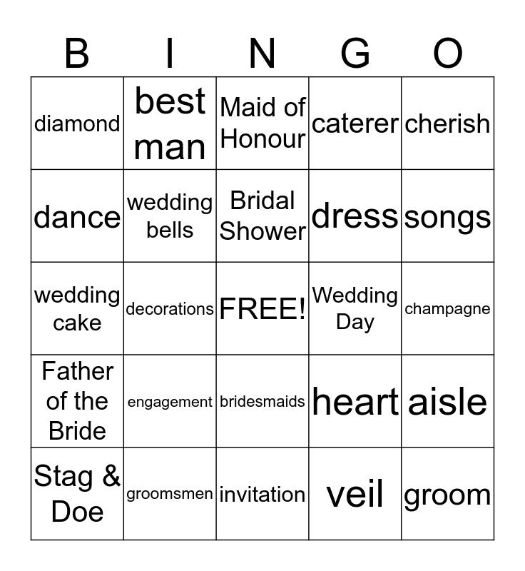 Bride-to-be Alicia Bingo Card