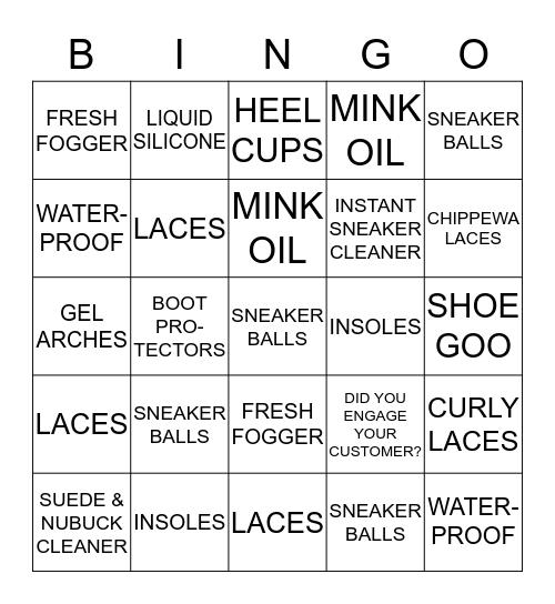 Shoecare Bingo Card