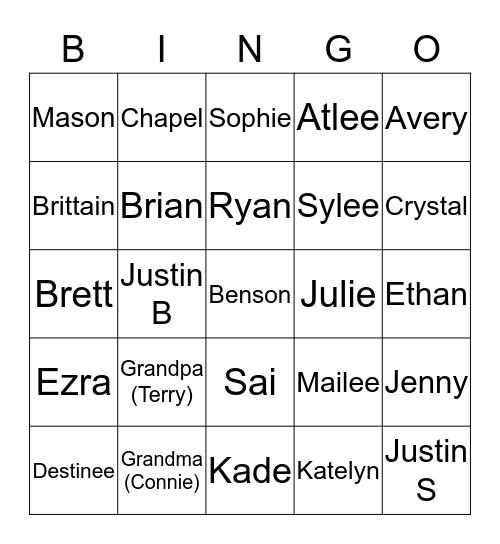 Blau Family Bingo Card