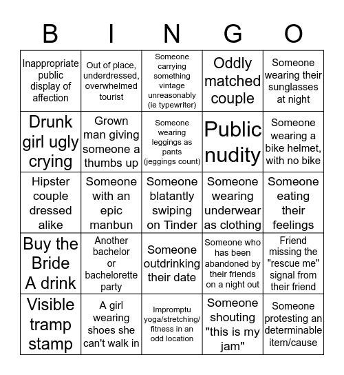 Judgement Bingo: Arti Sharma Bachelorette Edition Bingo Card