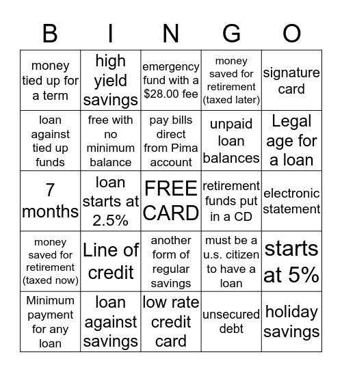 Silverlake Bingo  Bingo Card