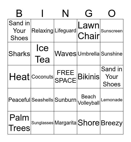 Beach Blanket Bingo Card