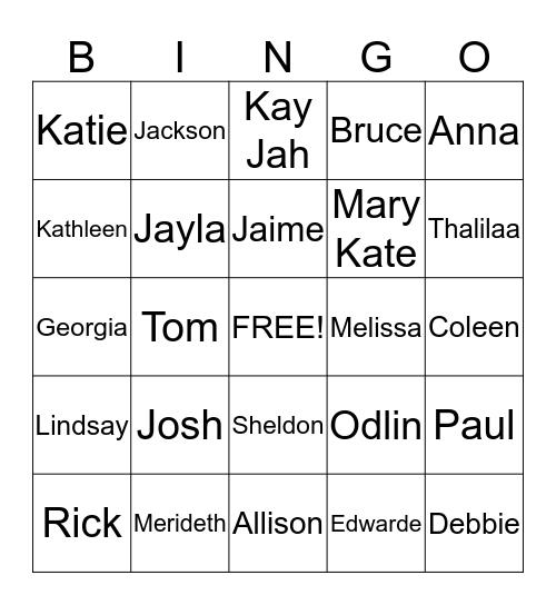 Haiti July 2015 Bingo Card