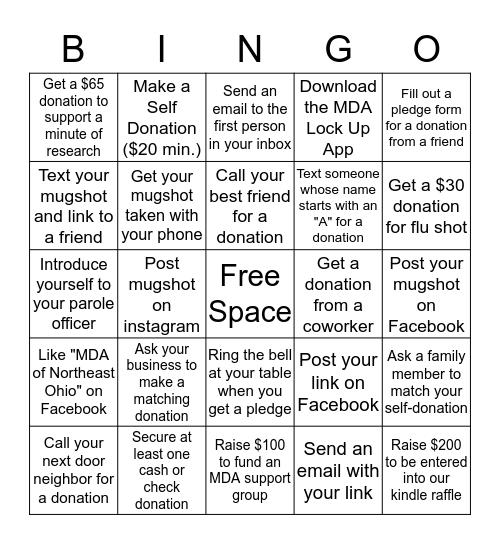 Jailbird Bingo Card