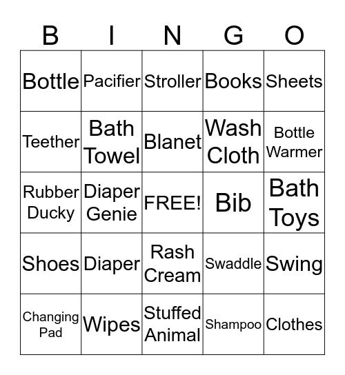 BABY! Bingo Card